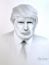 President Donald Trump - Lithograph of Charcoal Drawing Signed by Gary Saderup