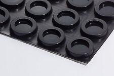 4 Gummifüße schwarz ca 7 mm hoch * ca 32 mm Durchmesser rund selbstklebend 8009