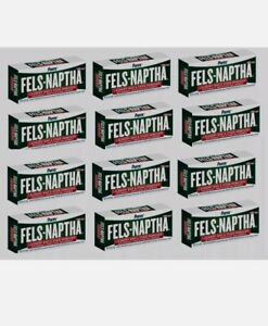 12 - FELS NAPTHA Laundry Soap Detergent Stain Remover Pre Treating 5 oz Bars!!!