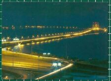 "(CWC) Malaysia 1980s ""Penang Bridge by Night"" Postcard photo by C.T.Fong #16813"