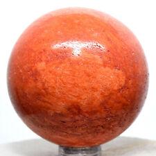 52mm Orange Jasper Sphere Natural Sparkling Crystal Polished Decor Stone - Peru