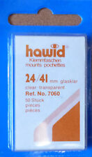 HAWID STAMP MOUNTS CLEAR Pack of 50 Individual 24mm x 41mm - Ref. No. 7060