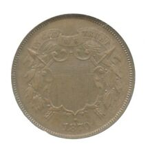 1870 Shield Two Cents, NGC MS 63 BN