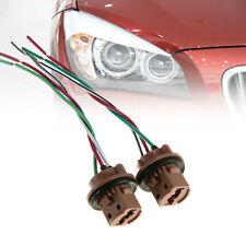 2Pcs 7443 T20 Female Brake Turn Signal Bulb holder Socket adapter Wiring HarneTW