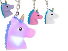 Unicorn LED Flashing Keyring Keychain Flashing LED Disco Lights