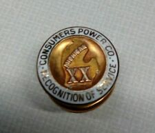 MICHIGAN CONSUMERS POWER COMPANY RECOGNITION SERVICE 20 YEAR PIN 10K GF ENAMEL