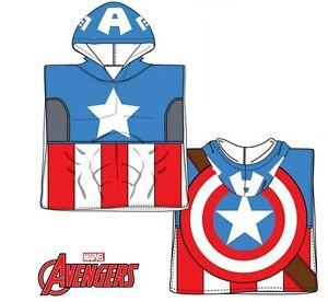 Marvel Avengers Super Hero Captain America Baby Toddler Hooded Beach Towel