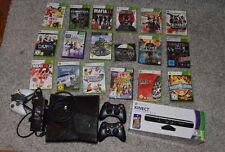 Microsoft Xbox 360 S 250GB Spielekonsole + Kinect + 18 Spiele + 3 Controller