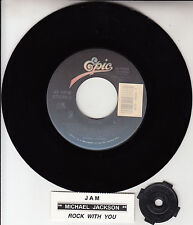 "MICHAEL JACKSON  Jam & Rock With You 7"" 45 rpm record + juke box title strip NEW"