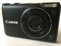 Canon PowerShot A2200 HD 14MP Digital Camera f/2.8 28-112mm 4x Zoom New Battery