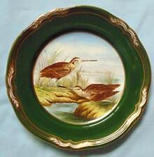 """SPODE 9"""" HAND PAINTED PLATE SNIPE FROM GAME BIRDS SERIES"""