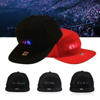 LED Display Baseball Caps DIY Cotton LED Screen Hat Cap Bluetooth APP Controlled