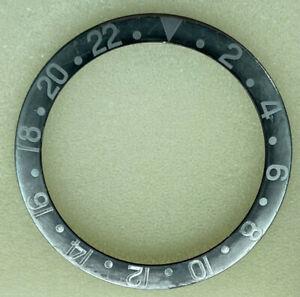 Vintage Rolex GMT 1675/0 Fat Font Faded Ghost Black w/Silver Bezel Insert