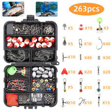 263Pcs Fishing Accessories Kit set with Tackle Box Fish Hook Lure Parts Kit Set
