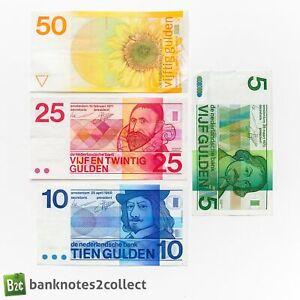NETHERLANDS: Set of 4 Dutch Guilder Banknotes.