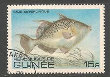 Guinea #806 (A117) VF USED - 1980 15s Triggerfish