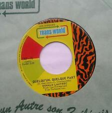 *DONALD LAUTREC Quelqu'un...BEATLES, Something CANADA FRENCH 1971 Trans-World 45