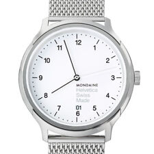 MONDAINE Helvetica Series Men's Watch mh1.r2210.sm Analogue Stainless Steel