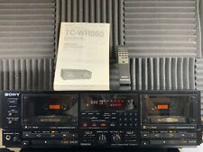 Vtg Sony Tc-Wr950 Double Dual Cassette Tape Player Deck Recorder Stereo Tested