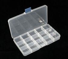 Transparente cuentas Hot almacenamiento Funda Caja 18x10.5 x2.4 Cm