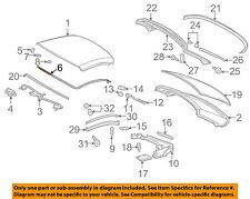 MERCEDES OEM 98-04 SLK230 Top Well-Rear-Rear Cover Support Left 1706900109