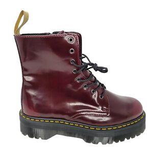 Dr. Doc Martens Men's Size 13 Vegan Jadon II Platform Boots Cherry Red
