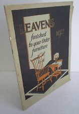1927 LEAVENS Furniture Catalog with Color Illustrations & Order Form
