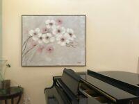 LARGE 48 x60 Lee Reynolds Oil Floral Painting - Framed - Signed-ON SALE NOW