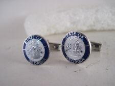 Georgia State   Seal cloisone   cufflinks  (3f13  9)
