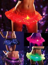 Petticoat Tutu with Fiber Optic Sparkles Light Up Man Led Burning Choose Color