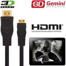 Gemini JoyTAB 9.7 Duo Android Tablet PC HDMI Mini to HDMI TV 2.5m Cable Cord