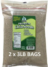 6 LBS Premium WHITE Chia Seed Get Raw Vegan Gluten-Free Non-Gmo Grown Organic