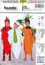 Patron Burda Déguisement / Costume Légumes n°2803