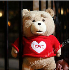 Teddy Bear Ted 2 Plush Toys In Apron England Love Sweater 40CM Soft Animals Doll