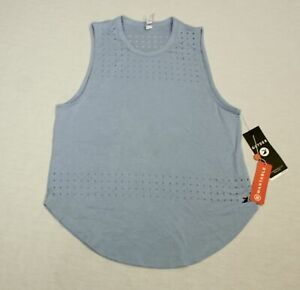 Glyder Women's Soft Perforated Mood Tank Top CM9 Ice Blue Size XS