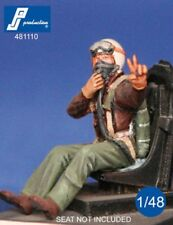 1/48 PJ PRODUCTION USAF FIGHTER PILOT SEATED IN A/C (KOREAN WAR)