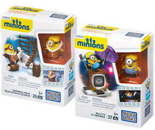 NEW Mega Bloks Minions Despicable Me Snowball Fight & Silly TV Lot