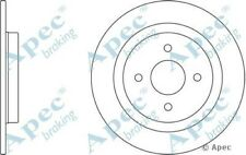 1x OE Quality Replacement Rear Axle Apec Solid Brake Disc 4 Stud 281mm - Pair