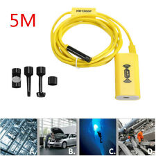 5M 8LED WiFi Inspection Endoscope Borescope HD 1200P Camera IP68 For iOS Android