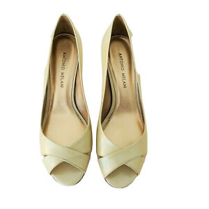 Antonio Melani Shoes Size 8 Med Color Rice Peep Toe Classic Pump Style RONA119