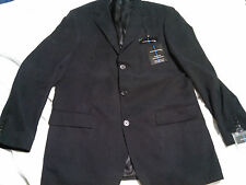 STATEMENTS BT Three-Button Micro suede blazer 42 Long BLACK tailored new $200