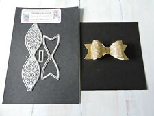 Craft Metal Die compatible to use with Cuttlebug or Sizzix -  Fancy Bow