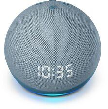 Amazon Echo Dot 4th Gen 2020 Smart speaker with clock Alexa Glacier White , Blue