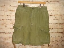 ABERCROMBIE & FITCH - Twill 7 Pocket Heavy Cotton Cargo Shorts Men's 28 Green
