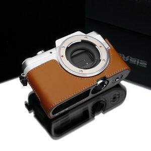 GARIZ Genuine Leather Half Case Panasonic Lumix GF7 Light Brown XS-CHGF7LB
