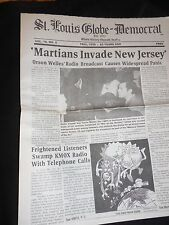 WAR OF THE WORLDS HISTORICAL NEWSPAPER