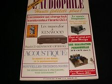 L'AUDIOPHILE<>OCTOBER 1988<>RARE FRENCH AUDIO MAGAZINE°#1 (NEW SERIE)