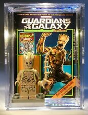 Groot Guardians Of Custom Mini Action Fig w Case & Lego Stand 326 Minifigure