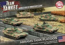 Flames of War Nuevo Y En Caja equipo Yankee Abrams Tanque pelotón (plástico) TUBX08