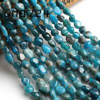 6-8mm Natural Irregular  Apatite Gemstone Chips Beads For  Jewelry Making 15''